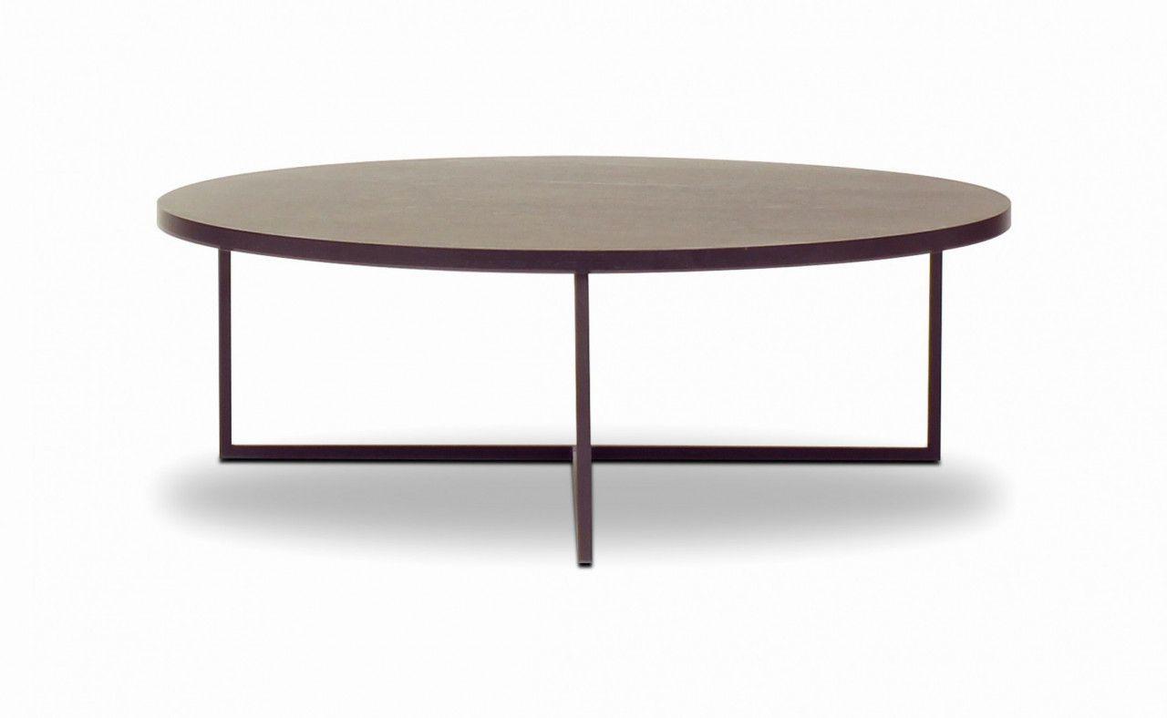 circular black metal coffee table