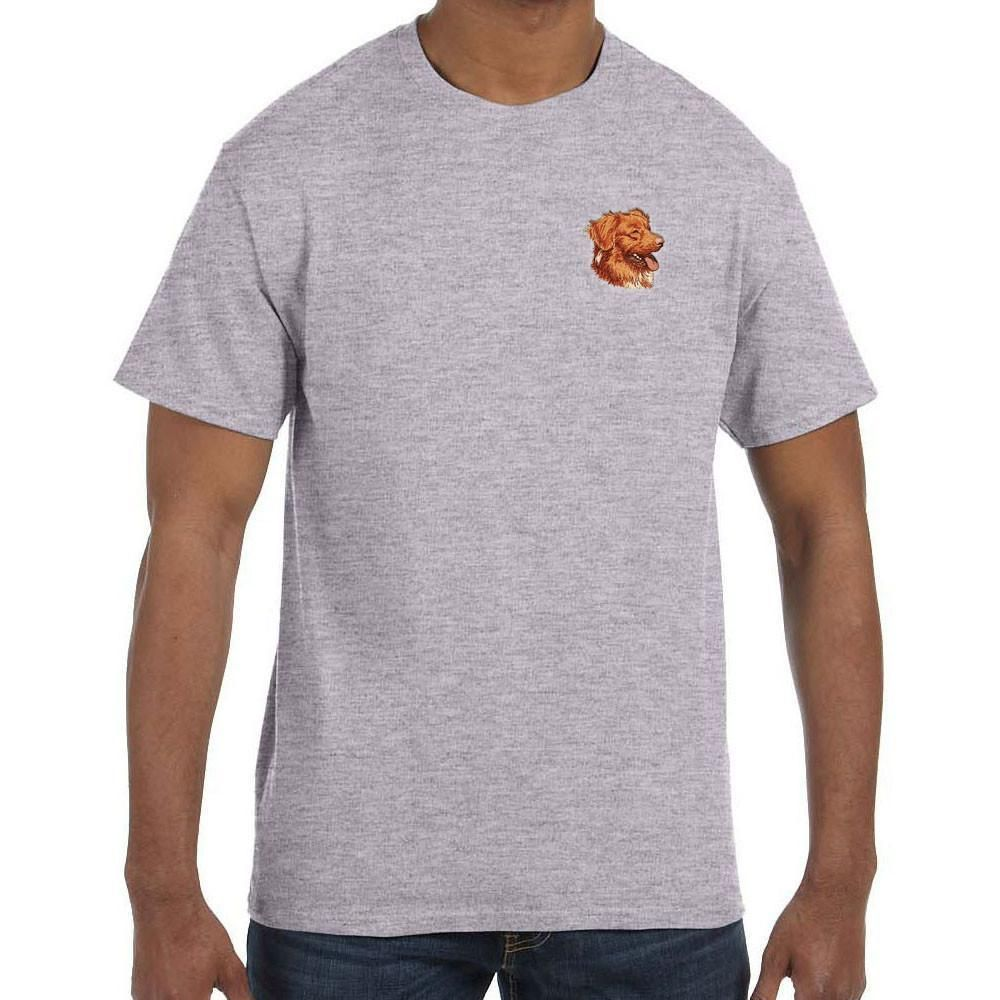 Nova Scotia Duck Tolling Retriever Embroidered Mens T-Shirts