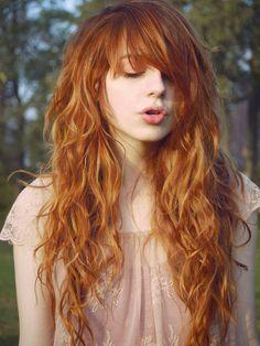 Peinados Pelo Rizado Largo Flequillo Hair Hair Hair Styles Y