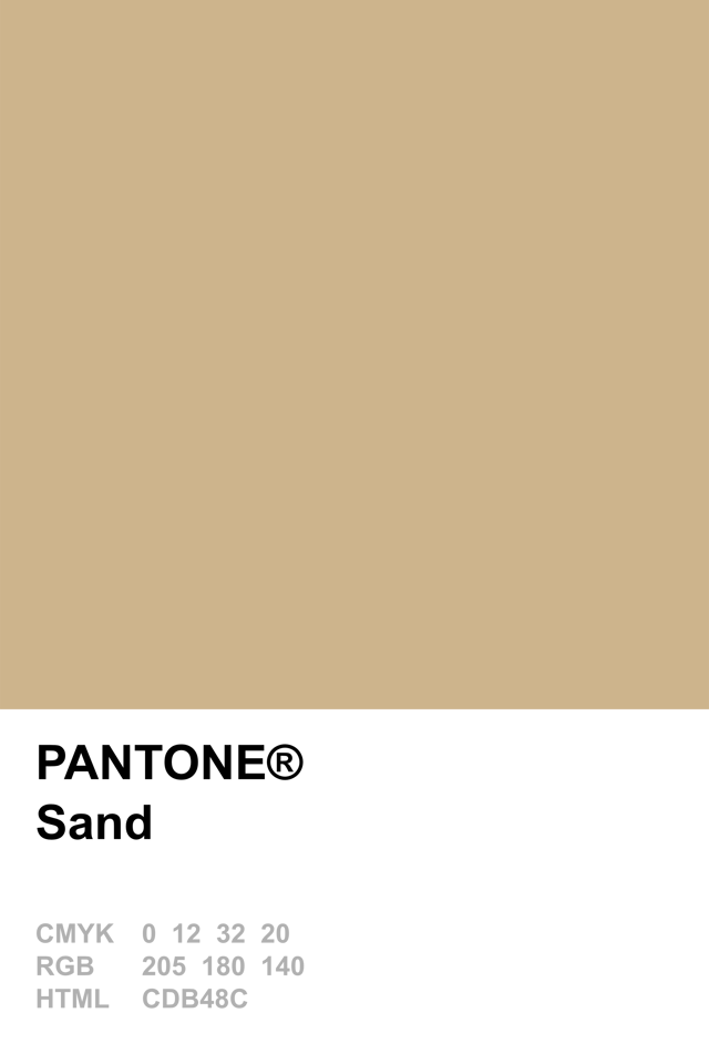 Pantone 2014 Sand