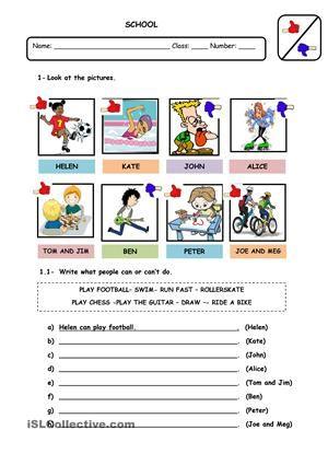 Gap Filling Exercises Using Modal Verb Canin Affirmative Negative And Interrogative Form Esl Worksheets Verb Worksheets Action Verbs Action Verbs Worksheet The verb be worksheets
