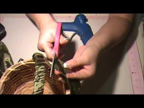 How to Make a #Christmas Basket #crafts #tutorial