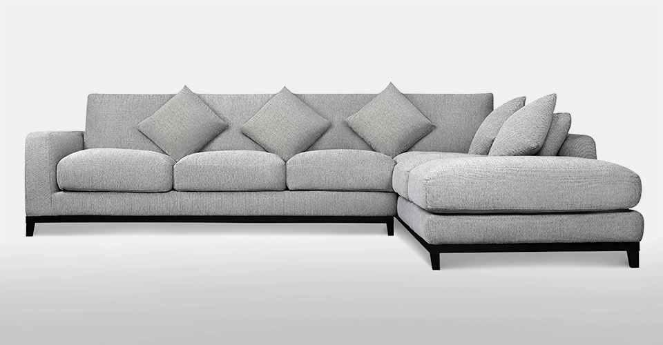 Kellan Sectional Sofa With Right Chaise Light Gray Sectionals Sofas Volo Design