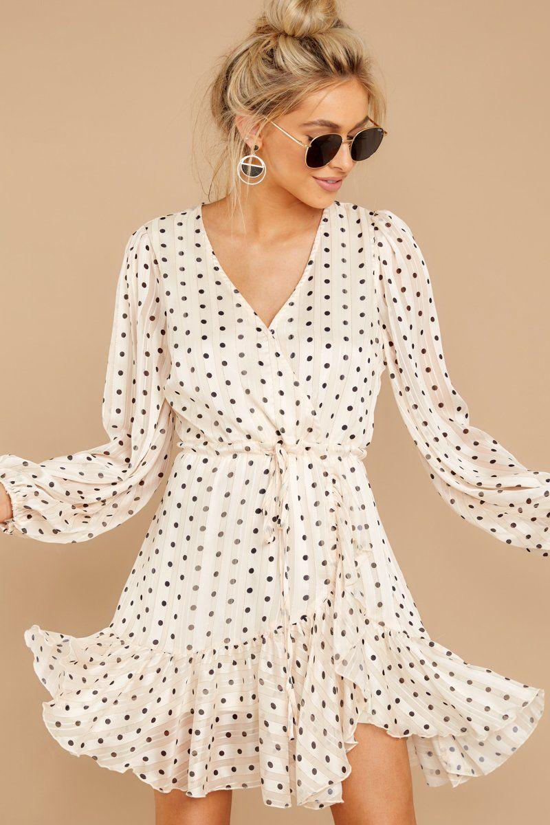 Adorable White Polka Dot Dress Long Sleeve Wrap Dress Dress 58 Red Dress Polka Dot Dress Outfit White Polka Dot Dress Outfit Dresses [ 1200 x 800 Pixel ]