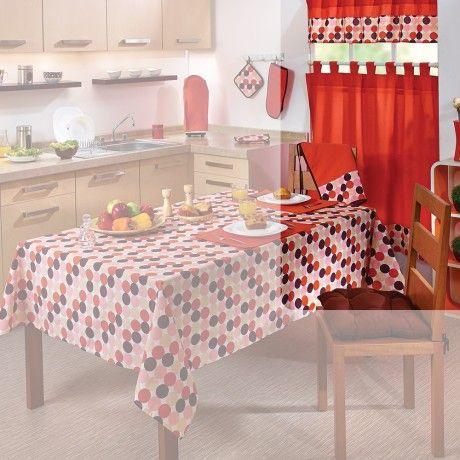 Juego de cortinas para cocina polka ideas mexico - Decoracion de cortinas ...