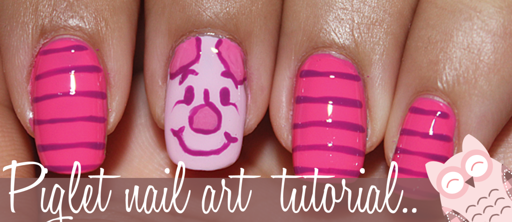 Piglet nail art tutorial | Qtplace  Nail-art design