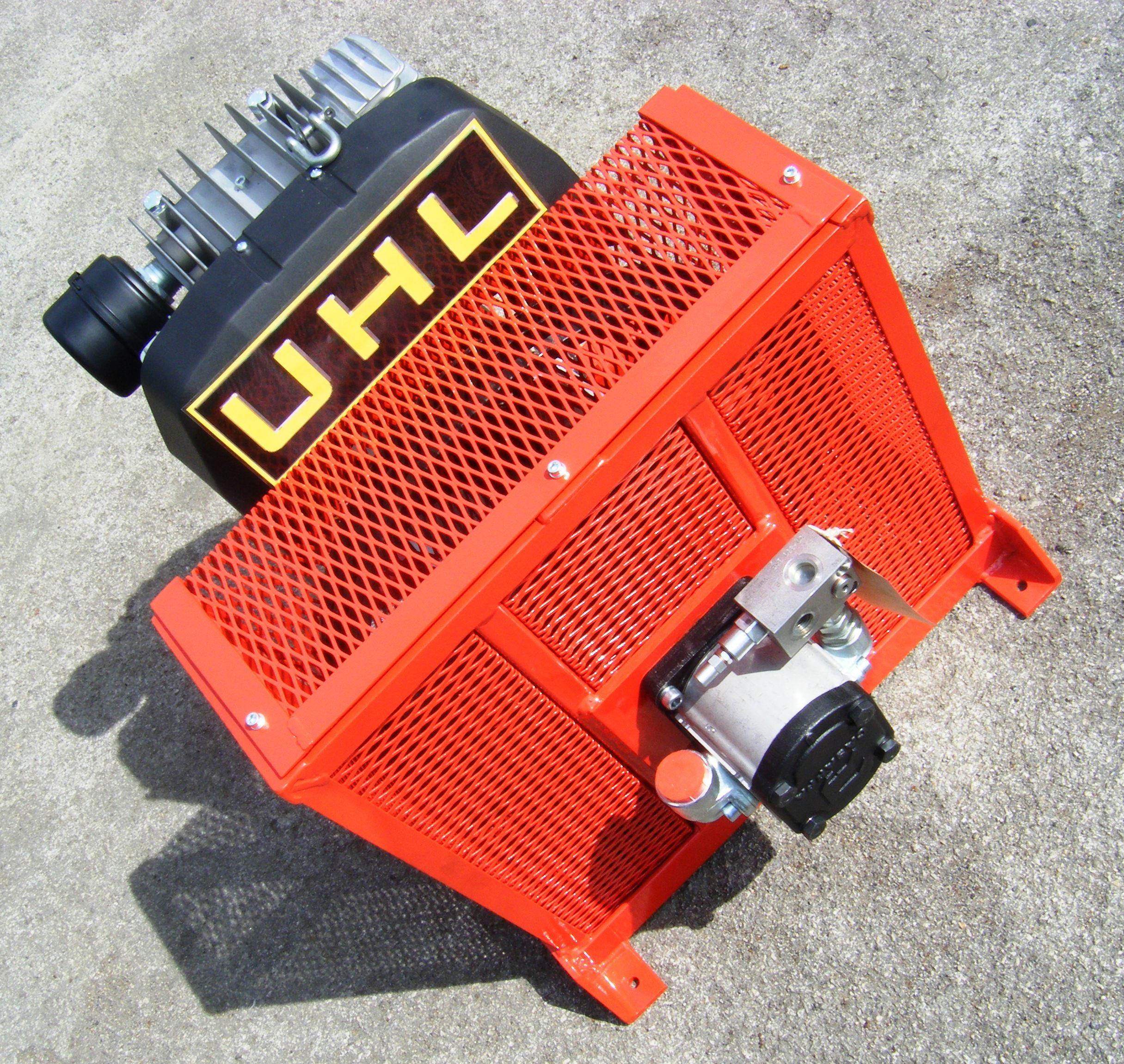A UHL TRC42 Compressor Head, utilizing a Casappa Polaris