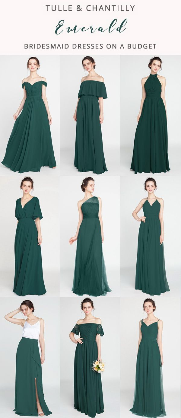 Long Short Bridesmaid Dresses 79 149 Size 0 30 And 50 Colors Emerald Bridesmaid Dresses Emerald Wedding Colors Bridesmaid [ 1380 x 600 Pixel ]