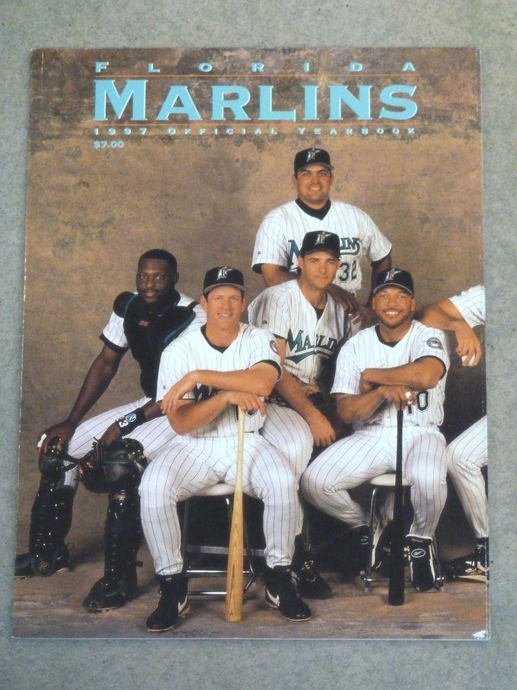Florida Marlins Baseball Yearbook 1997 Near Mint Marlins Baseball Marlins Baseball