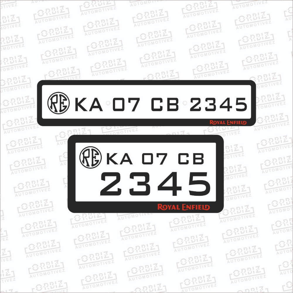 Royal Enfield Bike Number Plate Designs With Images Royal