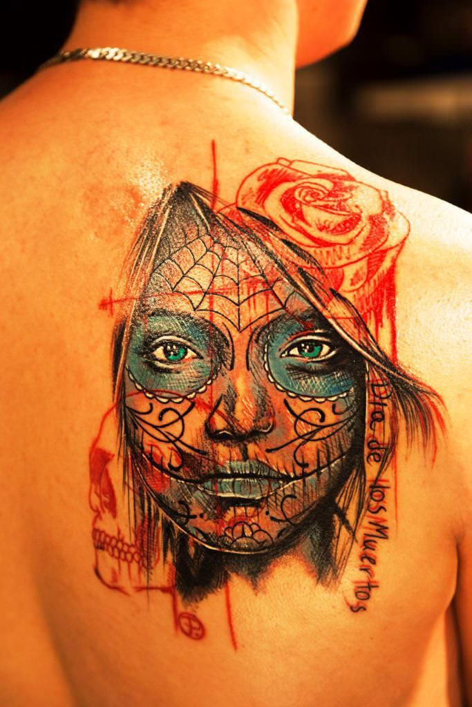 Image Of Day Of The Dead Woman Tattoo Designs Day Dead Woman