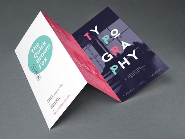 Tri Fold Brochure MockUp Business card design Pinterest Tri