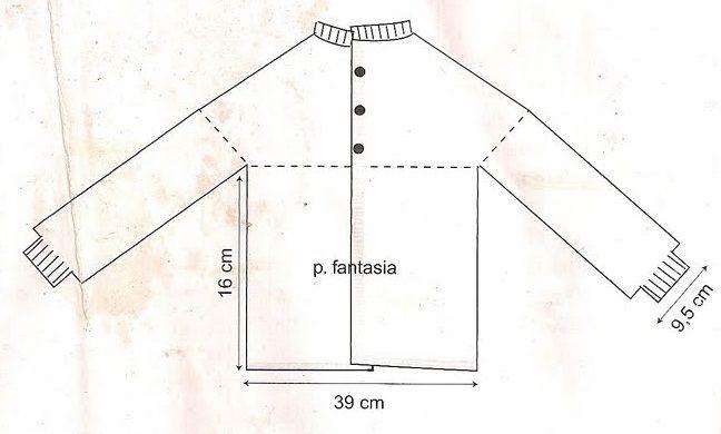 Receita de Tricô: Manta e casaquinho de trico com ponto de folhas