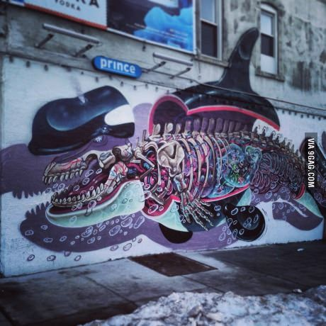 Awesome street art mural