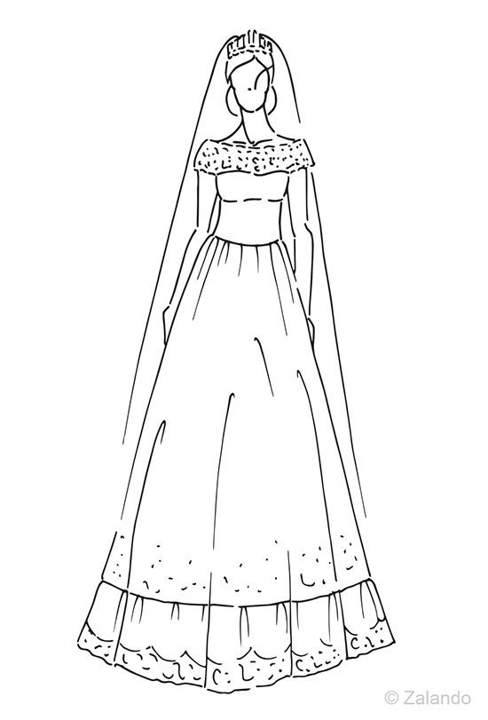 2013 Madeleine of Sweden wedding gown illustration from @ZalandoUK