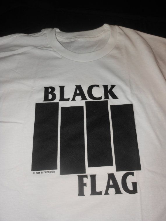 xl 1985 Black Flag t shirt -  DC punk hardcore band nyhc Henry Rollins vintage deadstock