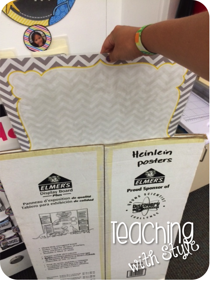 easy poster storage tape together a tri fold science fair board