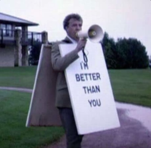 I'm better than you Band jokes, Marching band humor
