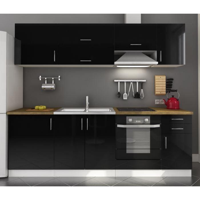 Cdiscount la 3 d bofff c 39 est froidmeuble de cuisine noir - Cuisine laquee noire ...