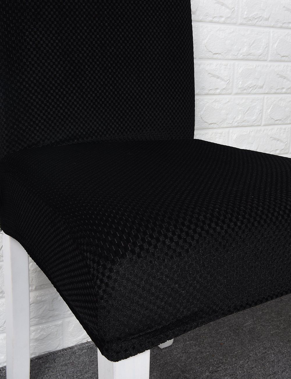 Panovous Chair Covers Seat Covers For Dining Room Velvet Black Chair Slipcovers Stretch Dining Chai Slipcovers For Chairs Dining Chair Covers Cheap Dining Sets