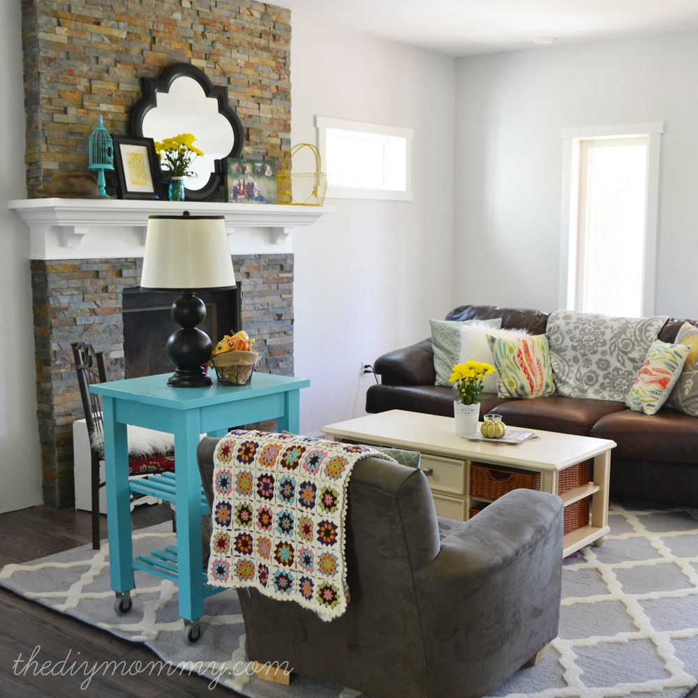 Glam Farmhouse Living Room