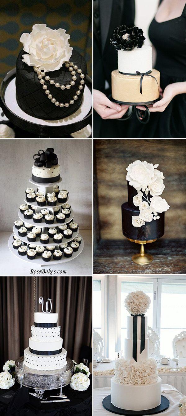 Gorgeous Black And White Wedding Cake Ideas And Inspiration Jpg