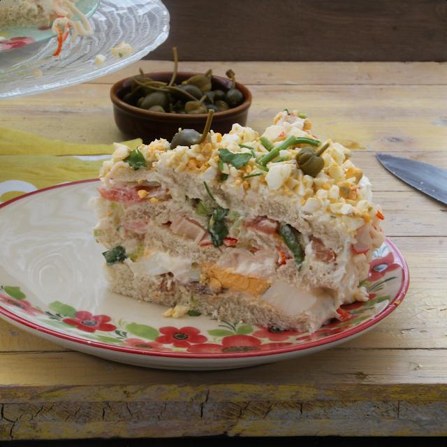 Tarta Salada Con Pan De Molde Cocina Tartas Saladas Comida Sin Grasa Y Recetas De Comida