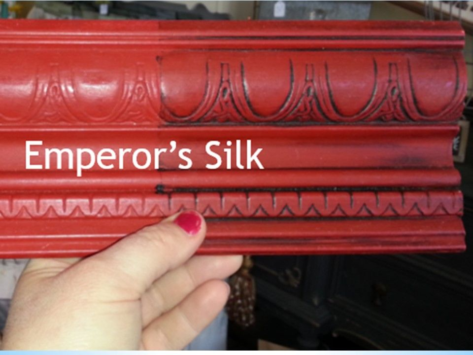 Primer Red Sample Board Comparison The Purple Painted Lady Chalk Paint Antoinette Emperor Silk Close Up