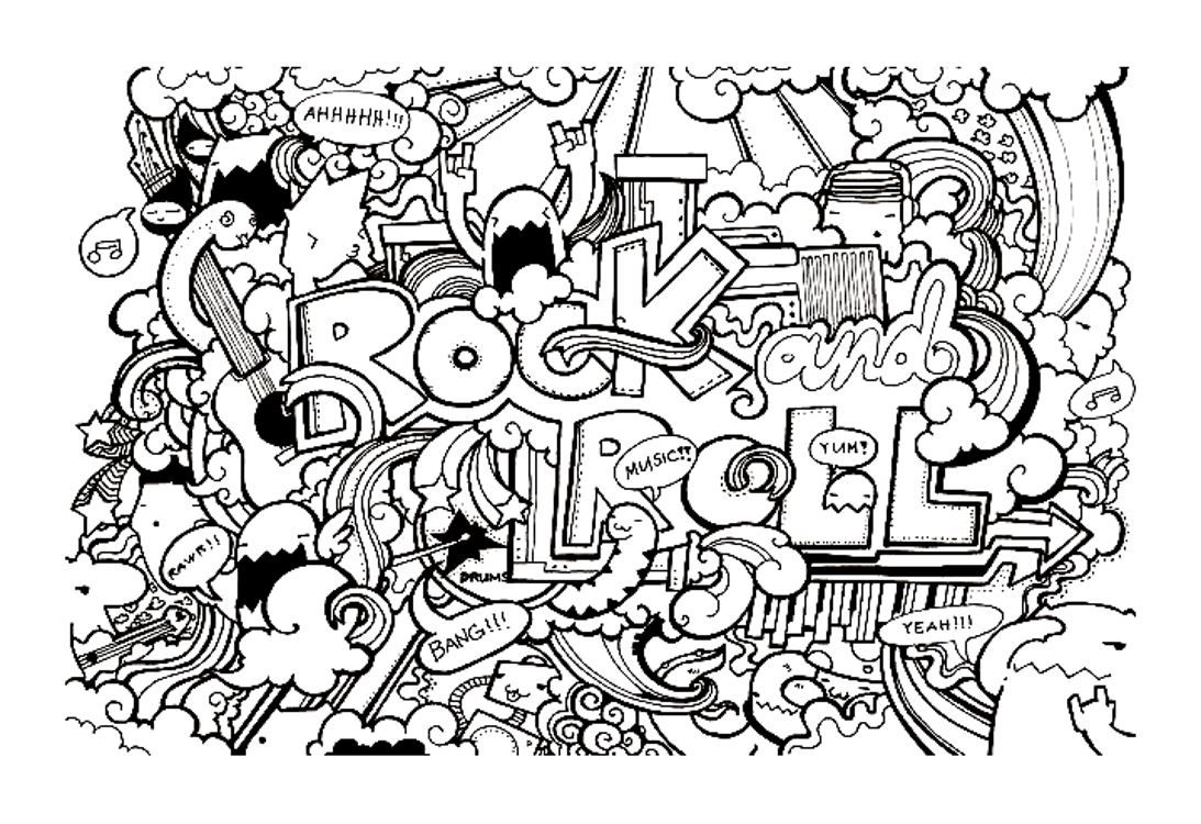 Free coloring page coloringdoodleartdoodling8 Cool