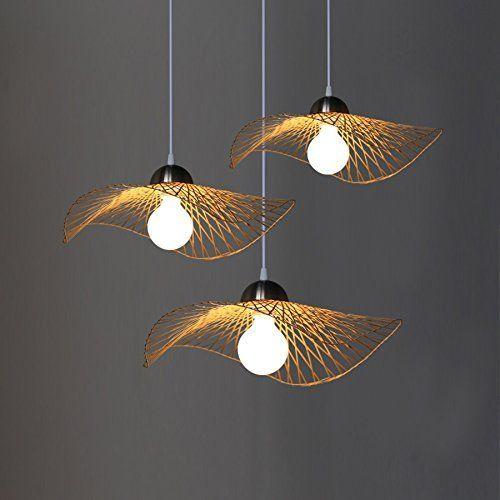 Xixi lumières pendantes de lustre en bambou lumière décorative de plafond de restaurant moderne simple pour le salon en métal de cuisine lustre décoratif