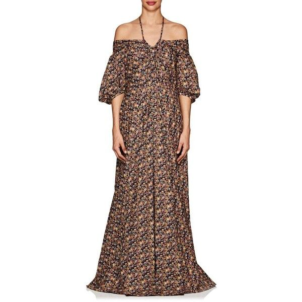 Sale Cheap Online Womens Floral Cotton Off-The-Shoulder Gown Zac Posen Sale Shop For Free Shipping 100% Guaranteed Best Prices Sale Online gbjNy0O