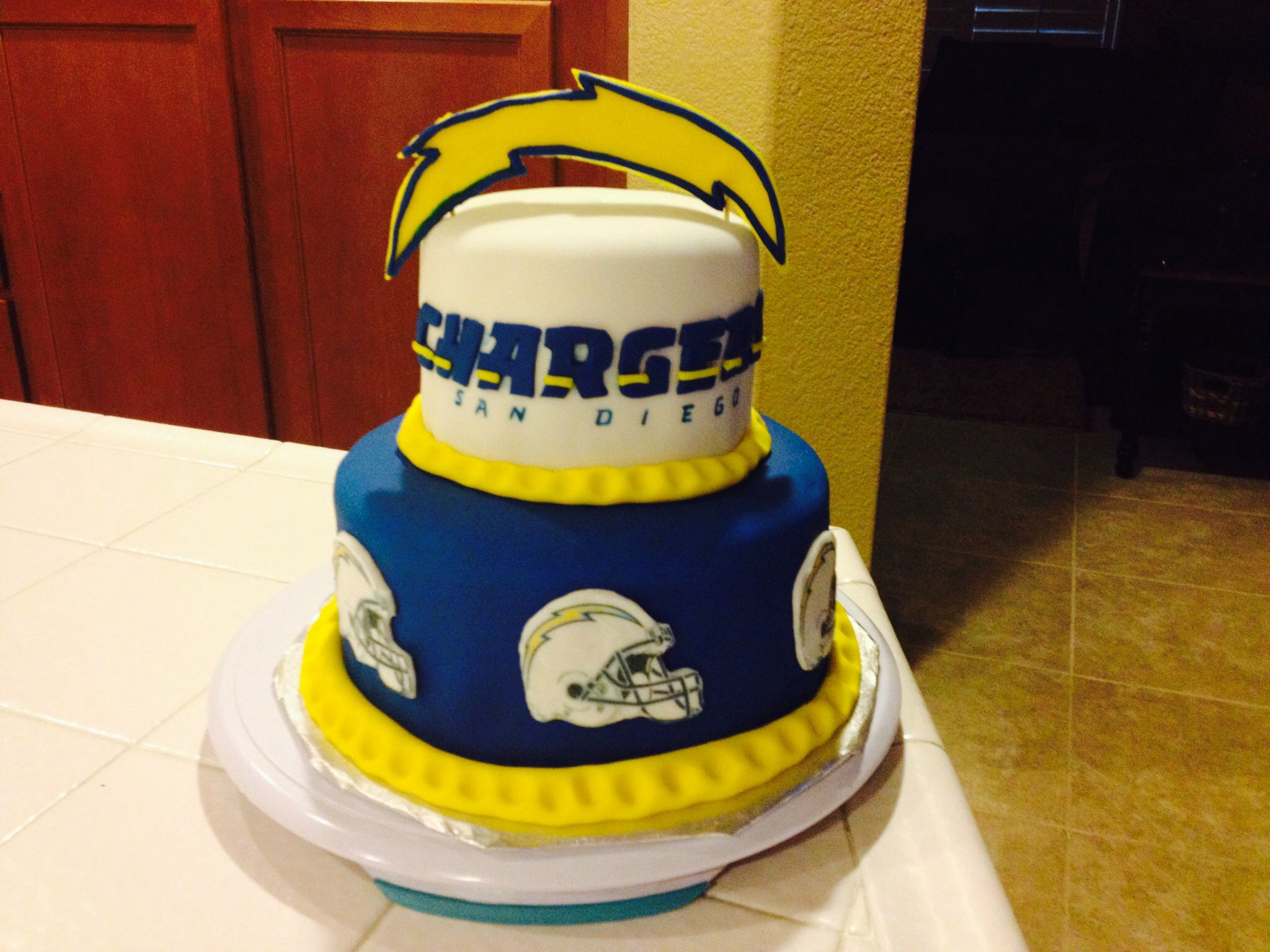 Chargers cake Sports cakes Pinterest Cake and Birthday cakes