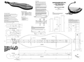 Musicmakers Hourglass Mountain Dulcimer Plans Mom S Board