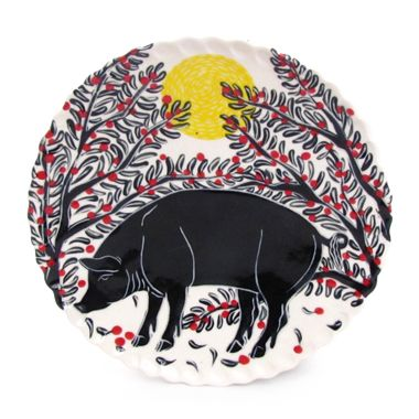 pig dinner plate  sc 1 st  Pinterest & pig dinner plate | Animals in clay | Pinterest | Clay and Craft