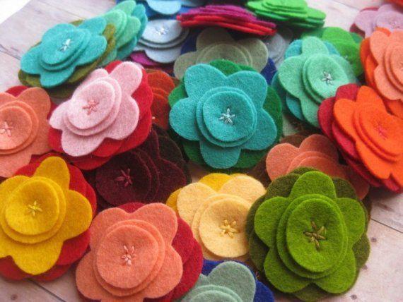 Home Ideas: i modelli di varie forme di fiori in feltro