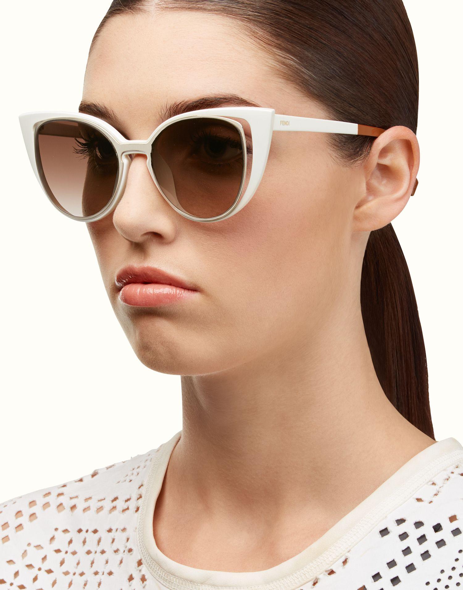 da123b44e8f PARADEYES white cat-eye double frame sunglasses. Ref  FOG2616CWF0EEA ...