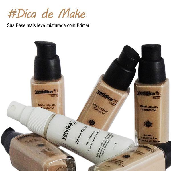 Saiba como deixar sua Base mais leve para usar no dia a dia http://www.veridicait.com.br/SubCategoria-Dica-maquiagem-Base-mais-leve-com-Primer-144.aspx  #ficadica #maquiagem #primer #base  #dicademaquiagem #dicamaquiagem #veridicait