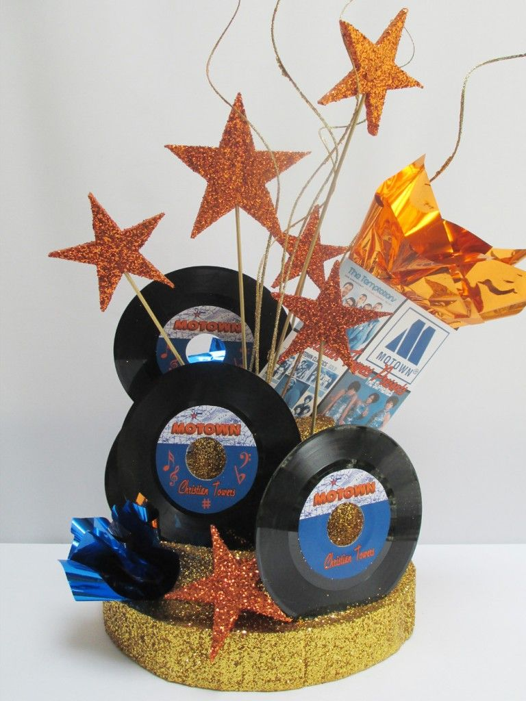 Each Time We Do The Motown Themed Centerpiece It Takes On