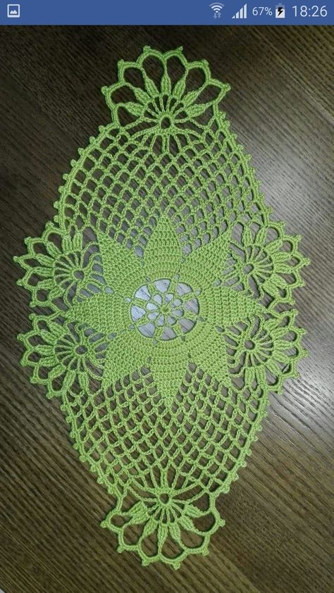 Oval crochet doily pineapple crochet doily oval by kroshetmania ...