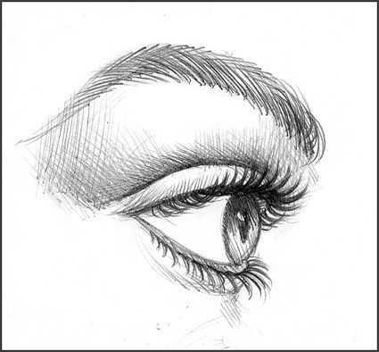 Step by step procedure on how to draw eyelashes using a pencil can use it also in computer illustrator photoshop or gimp