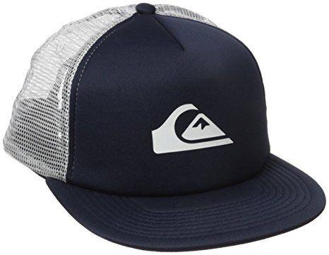 new concept 5153a 35a34 Amazon.com  Quiksilver – Snap Addict para hombre Trucker Cap, talla única ,  Negro  Clothing