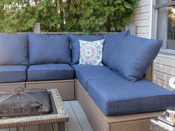 The Ikea Cushions Are Kinda Chintzy But I Love How Chelsea At Pinterior  Designer Used Thicker Lowes Allen + Roth Outdoor Cushions To Beef Up Her  Ikea ... Part 93