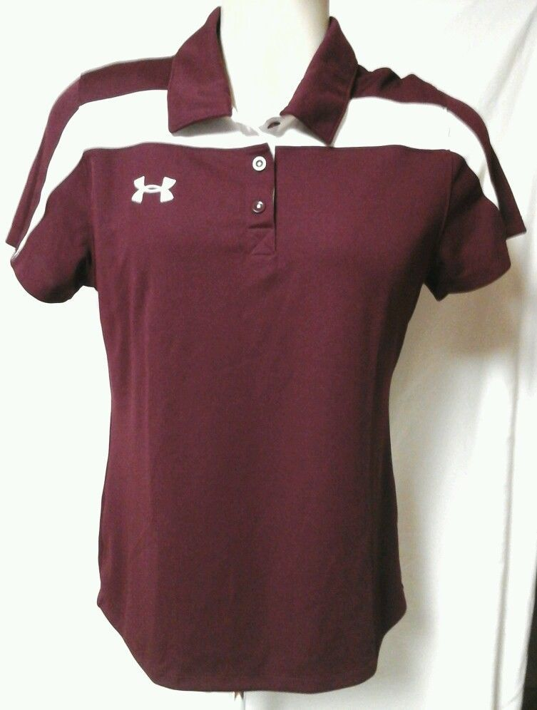 Women's Under Armour Short Sleeve Polo Shirt Large Semi-Fitted NWOT !! Heat Gear #UnderArmour #Polo