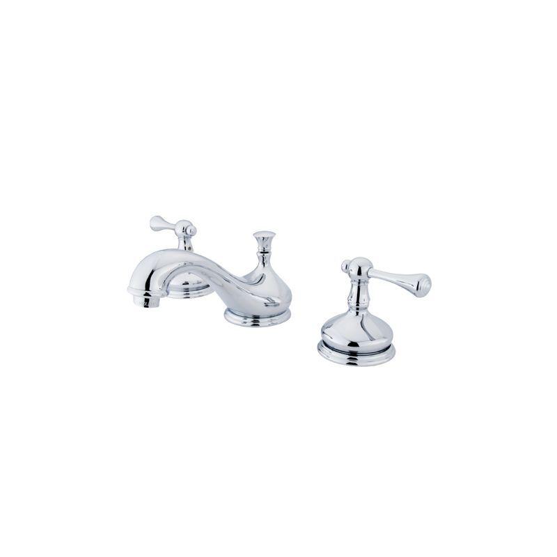 Kingston Brass KS116.BL Vintage Widespread Bathroom Faucet with Pop ...