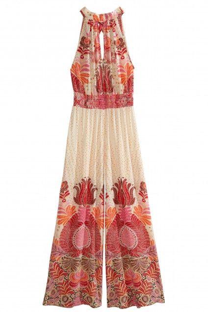 8101e16a06e3c Hedda Printed Stretch Silk Jumpsuit | Calypso St. Barth | Gypsy ...