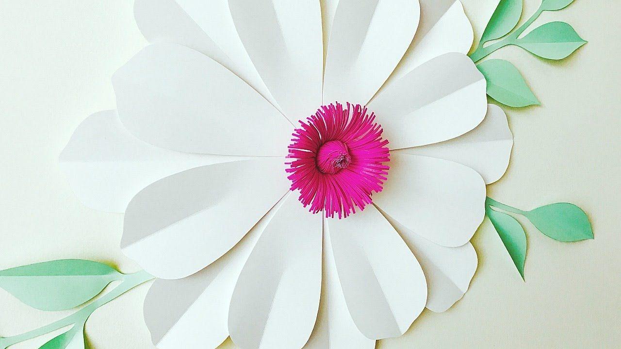 Flor Gigante De Papel Flores De Papel Moldes Gratis