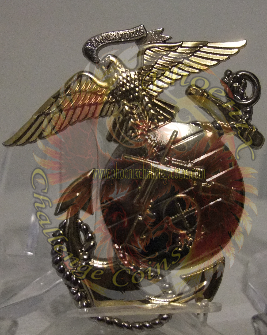 USMC Scout Sniper instructor retirement coin by Phoenix