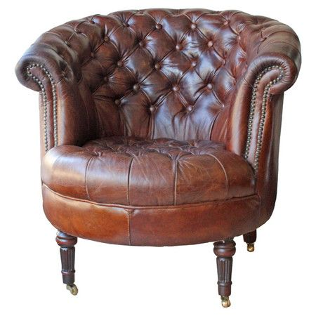 Coreen Leather Accent Chair