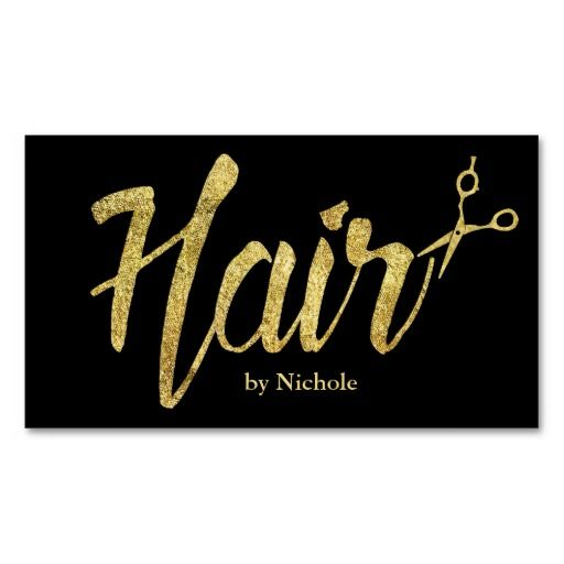 Hairstylist Resume Hair Stylist Modern Gold Script Appointment Doublesided Standard