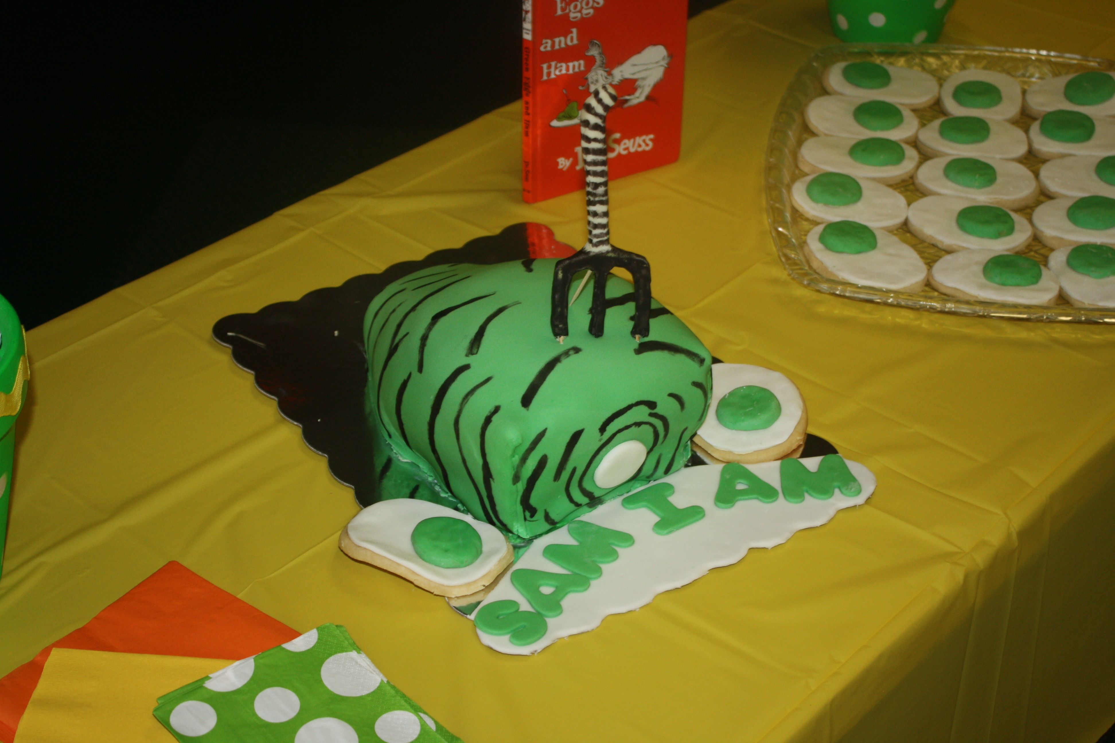 Green Eggs and Ham Cake I made for Janie's Babby Shower | Cake
